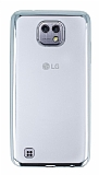 Eiroo Color Fit LG X cam Silver Kenarlı Şeffaf Silikon Kılıf