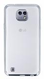 Eiroo Color Fit LG X Silver Kenarl� �effaf Silikon K�l�f