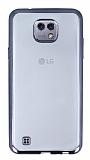 Eiroo Color Fit LG X Dark Silver Kenarl� �effaf Silikon K�l�f
