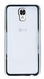 LG X screen Silver Kenarlı Şeffaf Silikon Kılıf