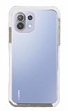 Eiroo Color Fit Xiaomi Mi 11 Lite Kamera Korumalı Beyaz Silikon Kılıf