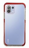 Eiroo Color Fit Xiaomi Mi 11 Lite Kamera Korumalı Kırmızı Silikon Kılıf