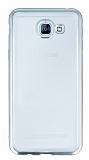 Samsung Galaxy A8 2016 Silver Kenarlı Şeffaf Silikon Kılıf
