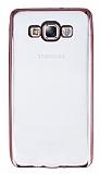 Samsung Galaxy E7 Rose Gold Kenarlı Şeffaf Silikon Kılıf