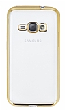 Eiroo Color Fit Samsung Galaxy J1 2016 Gold Kenarl� �effaf Silikon K�l�f
