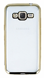 Eiroo Color Fit Samsung Galaxy J3 2016 Gold Kenarl� �effaf Silikon K�l�f