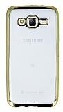 Eiroo Color Fit Samsung Galaxy J5 Gold Kenarl� �effaf Silikon K�l�f