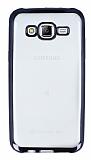 Eiroo Color Fit Samsung Galaxy J5 Siyah Kenarl� �effaf Silikon K�l�f