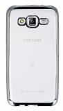 Eiroo Color Fit Samsung Galaxy J5 Silver Kenarl� �effaf Silikon K�l�f
