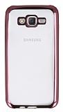 Samsung Galaxy J7 Rose Gold Kenarlı Şeffaf Silikon Kılıf