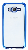 Samsung Galaxy J7 / Galaxy J7 Core Mavi Kenarlı Şeffaf Silikon Kılıf
