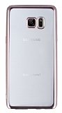 Samsung Galaxy Note FE Rose Gold Kenarlı Şeffaf Silikon Kılıf