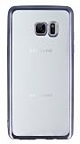 Samsung Galaxy Note FE Dark Silver Kenarlı Şeffaf Silikon Kılıf