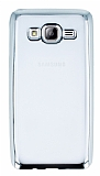 Eiroo Color Fit Samsung Galaxy On5 Silver Kenarl� �effaf Silikon K�l�f