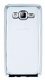 Samsung Galaxy On5 Silver Kenarlı Şeffaf Silikon Kılıf