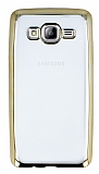 Eiroo Color Fit Samsung Galaxy On5 Gold Kenarl� �effaf Silikon K�l�f