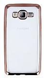 Samsung Galaxy On5 Rose Gold Kenarlı Şeffaf Silikon Kılıf