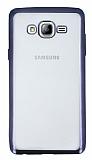 Samsung Galaxy On7 Siyah Kenarlı Şeffaf Silikon Kılıf