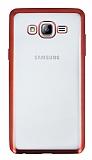 Samsung Galaxy On7 Kırmızı Kenarlı Şeffaf Silikon Kılıf