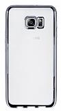 Samsung Galaxy S6 Edge Plus Silver Kenarlı Şeffaf Silikon Kılıf
