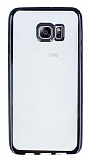 Samsung Galaxy S6 Edge Plus Siyah Kenarlı Şeffaf Silikon Kılıf