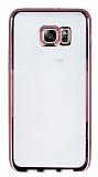 Samsung Galaxy S6 Edge Plus Rose Gold Kenarlı Şeffaf Silikon Kılıf