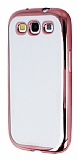 Eiroo Color Fit Samsung i9300 Galaxy S3 Rose Gold Kenarl� �effaf Silikon K�l�f