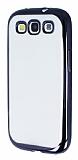 Eiroo Color Fit Samsung i9300 Galaxy S3 Siyah Kenarl� �effaf Silikon K�l�f