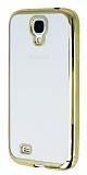 Eiroo Color Fit Samsung i9500 Galaxy S4 Gold Kenarl� �effaf Silikon K�l�f