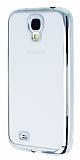Eiroo Color Fit Samsung i9500 Galaxy S4 Silver Kenarl� Silikon K�l�f