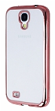 Eiroo Color Fit Samsung i9500 Galaxy S4 Rose Gold Kenarl� �effaf Silikon K�l�f