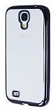 Samsung i9500 Galaxy S4 Siyah Kenarlı Şeffaf Silikon Kılıf