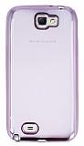 Eiroo Color Fit Samsung N7100 Galaxy Note 2 Pembe Kenarl� �effaf Silikon K�l�f