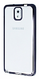 Samsung N9000 Galaxy Note 3 Siyah Kenarlı Şeffaf Silikon Kılıf