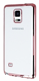 Eiroo Color Fit Samsung N9100 Galaxy Note 4 Rose Gold Kenarl� �effaf Silikon K�l�f