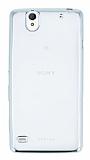 Sony Xperia C4 Silver Kenarlı Şeffaf Silikon Kılıf