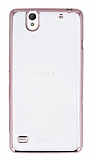 Eiroo Color Fit Sony Xperia C4 Rose Gold Kenarl� �effaf Silikon K�l�f