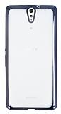 Sony Xperia C5 Ultra Siyah Kenarlı Şeffaf Silikon Kılıf