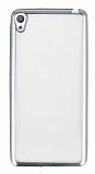 Sony Xperia E5 Silver Kenarlı Şeffaf Silikon Kılıf