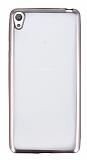 Sony Xperia E5 Rose Gold Kenarlı Şeffaf Silikon Kılıf