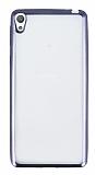 Sony Xperia E5 Siyah Kenarlı Şeffaf Silikon Kılıf