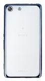 Sony Xperia M5 Dark Silver Kenarlı Şeffaf Silikon Kılıf