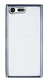 Eiroo Color Fit Sony Xperia X Compact Siyah Kenarlı Şeffaf Silikon Kılıf