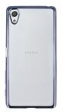 Sony Xperia X Dark Silver Kenarlı Şeffaf Silikon Kılıf