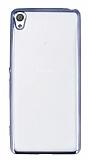 Sony Xperia XA Dark Silver Kenarlı Şeffaf Silikon Kılıf