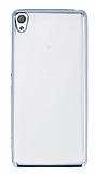 Eiroo Color Fit Sony Xperia XA Silver Kenarlı Şeffaf Silikon Kılıf