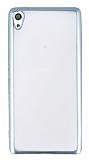 Sony Xperia XA Ultra Silver Kenarlı Şeffaf Silikon Kılıf