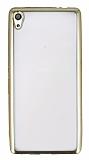 Sony Xperia XA Ultra Gold Kenarlı Şeffaf Silikon Kılıf