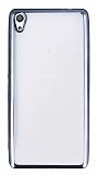 Eiroo Color Fit Sony Xperia XA Ultra Siyah Kenarlı Şeffaf Silikon Kılıf