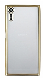 Sony Xperia XZ Gold Kenarlı Şeffaf Silikon Kılıf